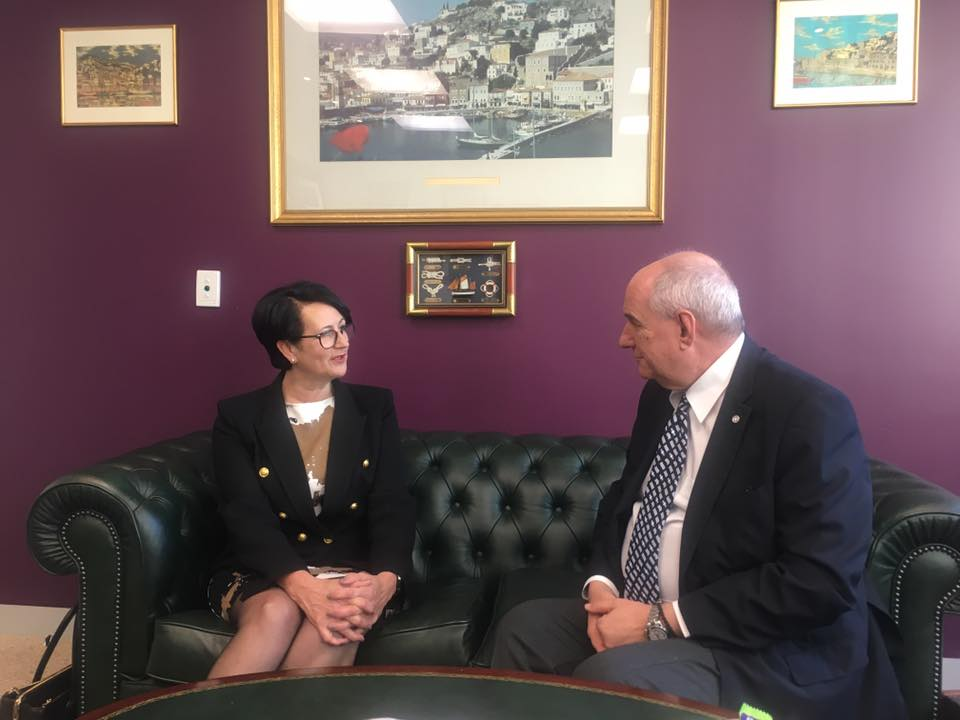 The Deputy Minister of Foreign Affairs Mr Terens - Nikolaos Quick visited Adelaide