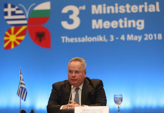 Interview of the Minister of Foreign Affairs, Nikos Kotzias, following the proceedings of the 2nd Meeting of the Ministers of Foreign Affairs of the Visegrad group (Visegrad 4) and of the Balkan EU member states (Balkan-4) (Sounion, 11 May 2018)