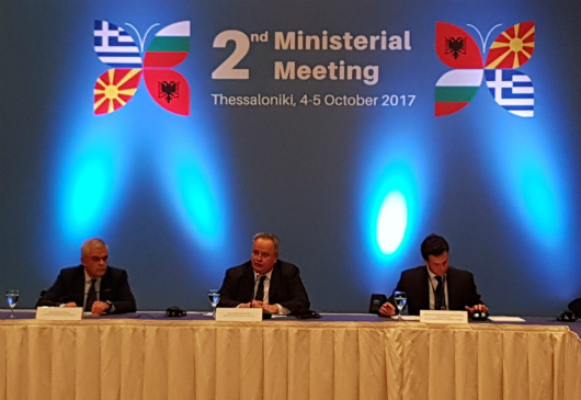 Press Conference of Minister of Foreign Affairs, N. Kotzias, upon completion of the 2nd Ministerial Meeting between Greece, Albania, Bulgaria and the former Yugoslav Republic of Macedonia (Thessaloniki, 05.10.2017)