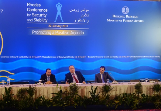 Foreign Minister Nikos Kotzias press conference at the 2nd Rhodes Conference for Security and Stability (Rhodes, 23 May 2017)