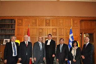 President of the Hellenic Parliament, Mr. Evangelos Meimarakis  in the Canadian Parliament, (Ottawa, 27 May, 2013)