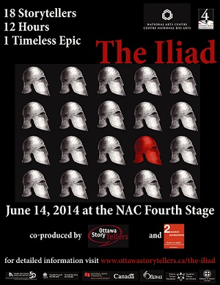 The Iliad, 18 Storytellers, 12 Hours, 1 Timeless Epic, Ottawa, June 14, 2014 at the National Art Center, Fourth Stage
