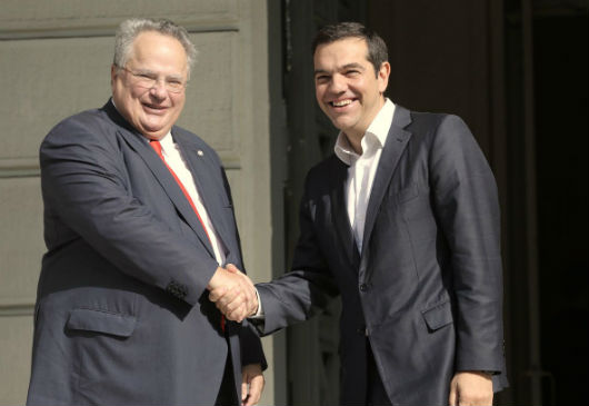 Ministry of Foreign Affairs Handover Ceremony - Statements of departing Minister of Foreign Affairs Nikos Kotzias and Prime Minister and new Minister of Foreign Affairs Alexis Tsipras (Athens, 20 October 2018)