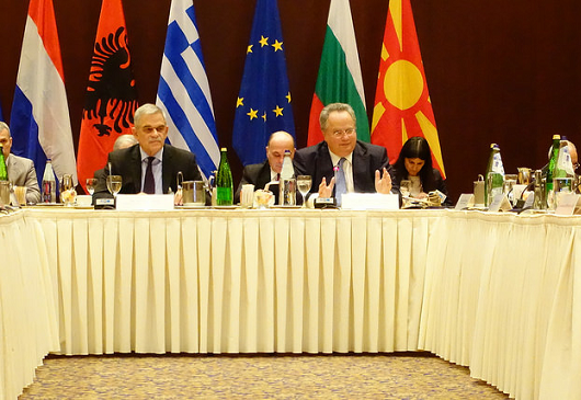 Press conference at the conclusion of the Quadrilateral Meeting of Greece, Albania, Bulgaria and FYROM, in Thessaloniki, on cross-border cooperation <br />(22 April 2016)