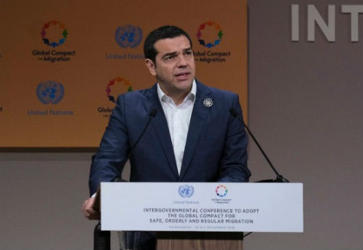 Speech by Prime Minister and Minister of Foreign Affairs Alexis Tsipras at the Intergovernmental Conference on the adoption of the Global Compact for Migration in Morocco (Marrakesh, 10 December 2018)
