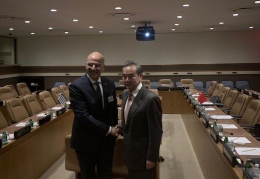 Statement of the Minister of Foreign Affairs, Nikos Dendias, following his meeting with the Minister of Foreign Affairs of China, Wang Yi (New York, 25 September 2019)