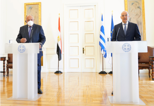 Statement of the Minister of Foreign Affairs, Nikos Dendias, following his meeting with his Egyptian counterpart, Sameh Shoukry (Athens, 15 September 2020)
