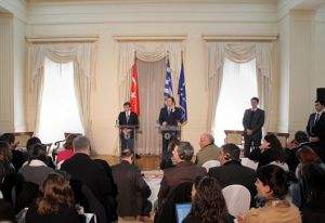 Meeting of Foreign Minister Droutsas and his Turkish counterpart, Mr. Davutoglu