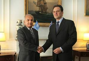 Statements of Foreign Minister Droutsas and UN special envoy for Libya Khatib following their meeting