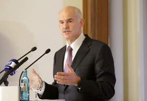 Prime Minister Papandreou on visit to Berlin and Helsinki