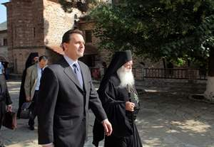 Foreign Minister Droutsas visits Mount Athos(3-4 June 2011)