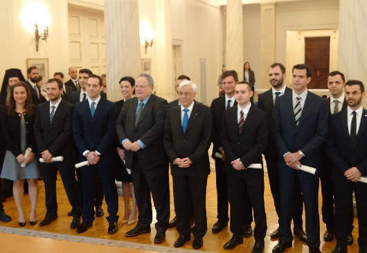 Speeches of the President of the Republic, Prokopis Pavlopoulos, and the Minister of Foreign Affairs, Nikos Kotzias, at the graduation ceremony for the 22nd Class of Embassy Attachés