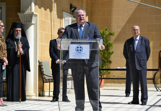 Foreign Minister Nikos Kotzias address at the ambassadorial residence in Nicosia (25 March 2017)