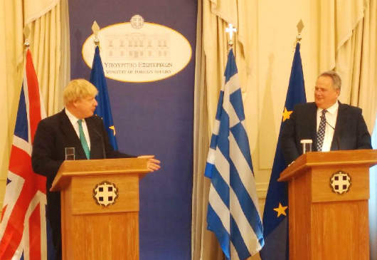 Foreign Minister N. Kotzias' statements following his meeting with the Foreign Secretary of the United Kingdom, B. Johnson (MFA, 6 April 2017)