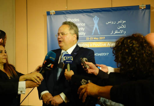 Foreign Minister Nikos Kotzias΄ doorstep statement at the 2nd Rhodes Conference for Security and Stability (Rhodes, 22 May 2017)