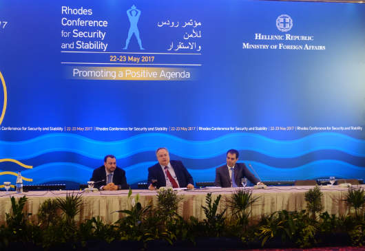 Foreign Minister Nikos Kotzias΄ press conference at the 2nd Rhodes Conference for Security and Stability (Rhodes, 23 May 2017)