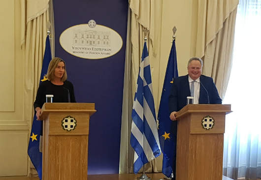 Statements by Mr. N. Kotzias, Minister of Foreign Affairs and Ms. Federica Mogherini, Vice-President of the European Commission and and High Representative of the Union for Foreign Affairs and Security Policy, following their meeting