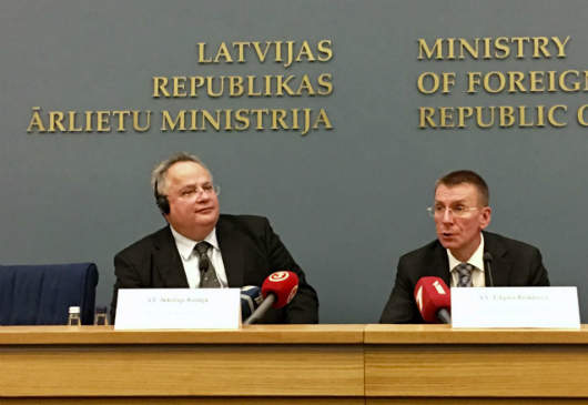 Press statements by Mr. N. Kotzias, Minister of Foreign Affairs, following his meeting with his Latvian counterpart, Mr. Edgars Rinkēvičs (Riga, 06.09.2017)