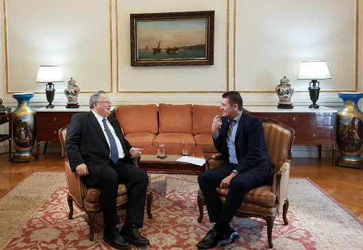 """Interview of Minister of Foreign Affairs, Nikos Kotzias, on ALPHA TV's """"Autopsy"""", with journalist Antonis Sroiter (15 February 2018)"""