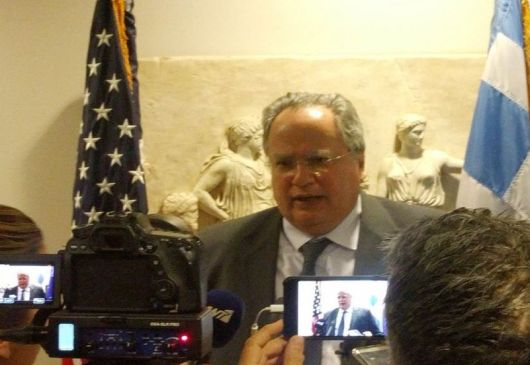 Briefing of Greek correspondents by the Minister of Foreign Affairs, Nikos Kotzias (Washington D.C., 22 May 2018)
