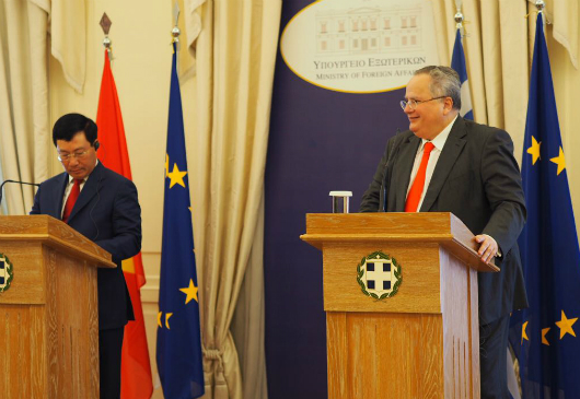 Statements of Minister of Foreign Affairs, N. Kotzias, following his meeting with the Deputy Prime Minister and Minister of Foreign Affairs of Vietnam, Pham Binh Minh (Athens, 2 July 2018)