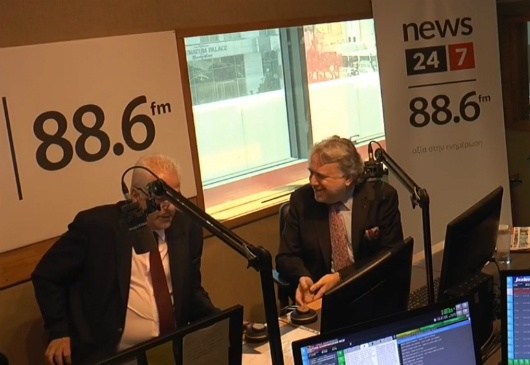 "Minister of Foreign Affairs Giorgos Katrougalos' interview on ""24/7"" Radio with journalist V. Skouris (06 May 2019)"