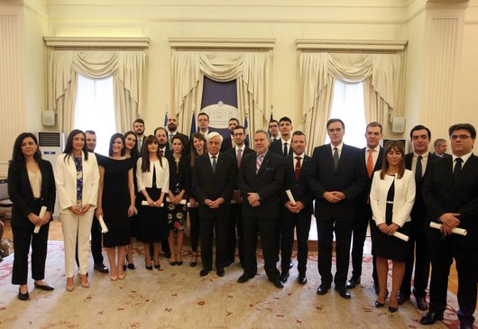 Speech by the President of the Republic, Mr. Prokopis Pavlopoulos and by the Minister of Foreign Affairs, Mr Giorgos Katrougalos, at the swearing-in ceremony of the 24th Class of Ministry of Foreign Affairs Attachés (22 May 2019)