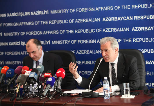 Highlights of the statements of Foreign Minister Avramopoulos and his Azerbaijani counterpart, E. Mammadyarov (Baku, 30 April 2013)