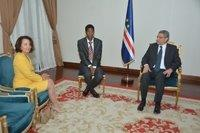 Ceremony of presentation of Credentials of Ambassador Mrs. Ekaterini Simopoulou to the President of the Republic of Cabo Verde