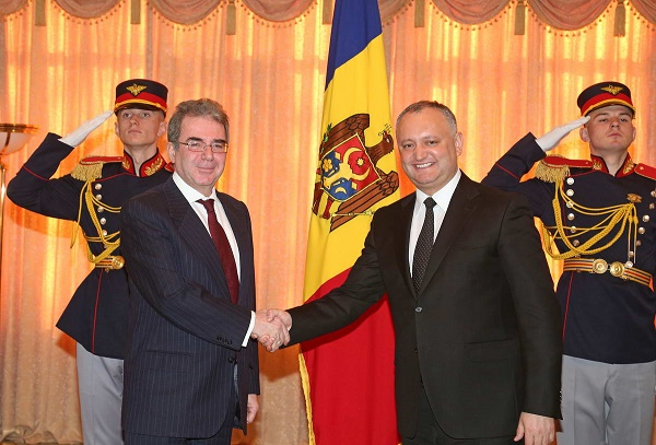Moldovan President received credentials of the new Ambassador of the Hellenic Republic Georgios Poukamissas