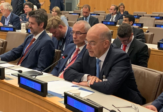 Statement of the Minister of Foreign Affairs, Nikos Dendias, on the presence of the Greek Delegation, under PM Kyriakos Mitsotakis, at the proceedings of high-level week of 74th UN General Assembly