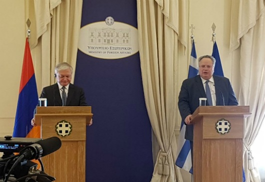 Joint statements of the Minister of Foreign Affairs, Nikos Kotzias, and his Armenian counterpart Edward Nalbandian (Athens, 13 December 2017)