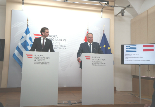 Joint press conference of Foreign Minister Kotzias and the Foreign Minister of Austria, Sebastian Kurz, following their meeting (Vienna, 11 May 2016)