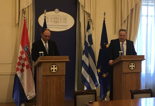 Joint statements of Foreign Minister N. Kotzias and the Deputy Prime Minister and Foreign Minister of Croatia, D. I. Stier (Athens, 31 May 2017)