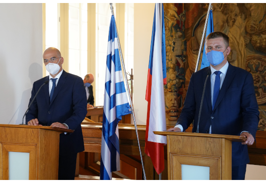 Statement of the Minister of Foreign Affairs, Nikos Dendias, following his meeting with his Czech counterpart, Tomas Petricek (Prague, 18 September 2020)