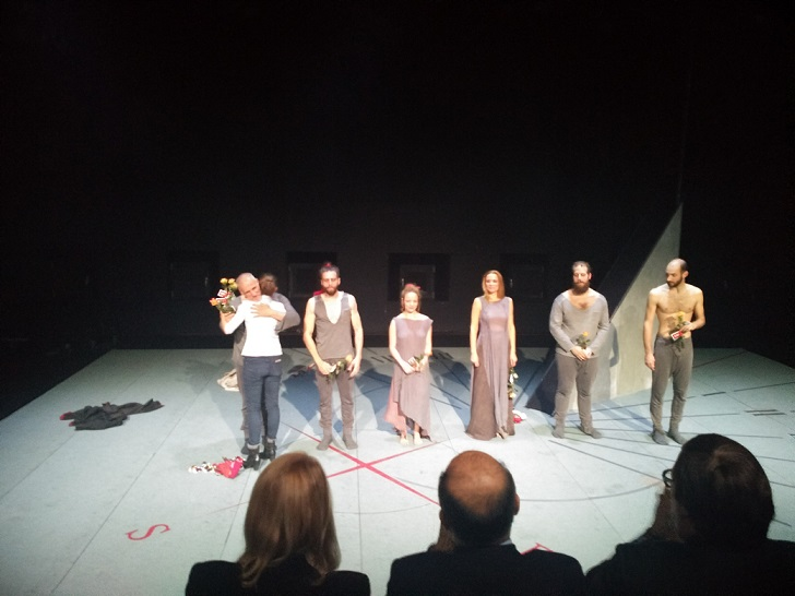 Premiere night of  the Medea theatrical play