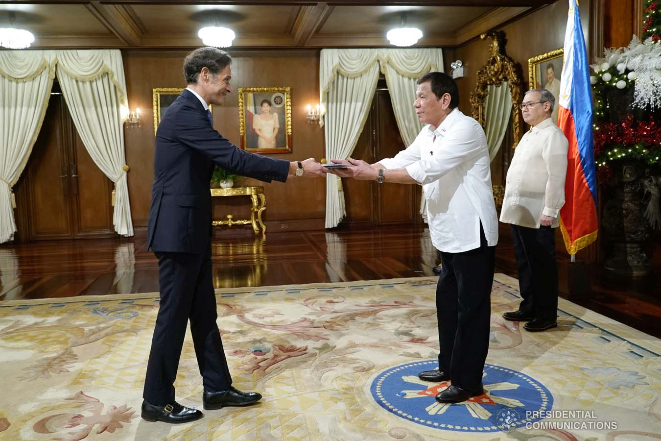 Snapshots of the ceremony of Presentation of Credentials