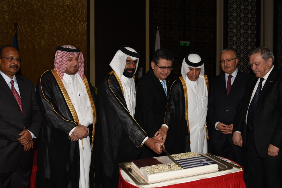 Speech of Ambassador of Greece in Doha Mr. I. Metaxas during the reception on the occasion of the National Day