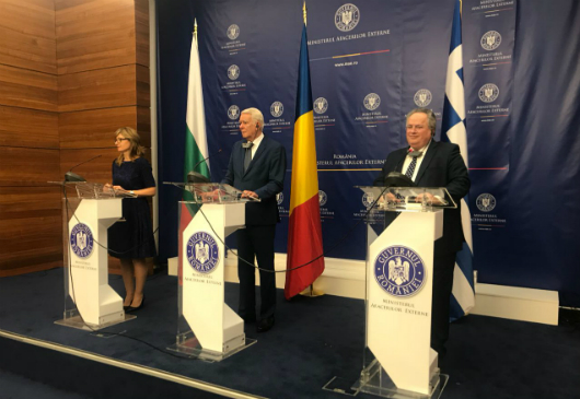 Statements of Minister of Foreign Affairs Nikos Kotzias following the proceedings of the Trilateral Ministerial Meeting between Greece, Romania and Bulgaria (Bucharest, 12 March 2018)