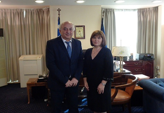 Deputy Minister of Foreign Affairs, I. Amanatidis, meets with the new Slovak Ambassador to Greece (Athens, 13 October 2017)