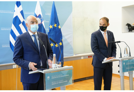 Statement of the Minister of Foreign Affairs, Nikos Dendias, following his meeting with his Slovenian counterpart, Anze Logar (Ljubljana, 18 September 2020)