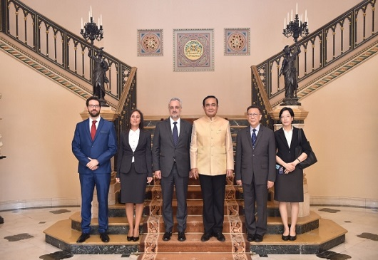 Farewell audience of the Ambassador, Mr. Pericles Boutos with H.E. the Prime Minister of the Kingdom of Thailand, General Prayut Chan-o-cha (8/6/2018)