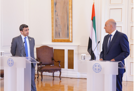 Statements of the Minister of Foreign Affairs, Nikos Dendias, following his meeting with his counterpart from the United Arab Emirates, Sheikh Abdullah Bin Zayed Al Nahyan (Athens, 25 September 2020)