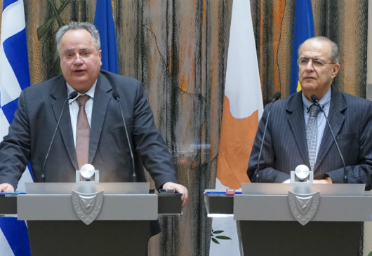 Joint statements of the Foreign Minister of the Republic of Cyprus, I. Kasoulides, and Foreign Minister N. Kotzias following their working luncheon at the Foreign Ministry (Nicosia, 18 July 2017)