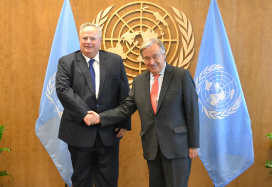 Minister of Foreign Affairs N. Kotzias' statement following his meeting with the Secretary-General of the United Nations, A. Guterres (New York, 17.09.2017)