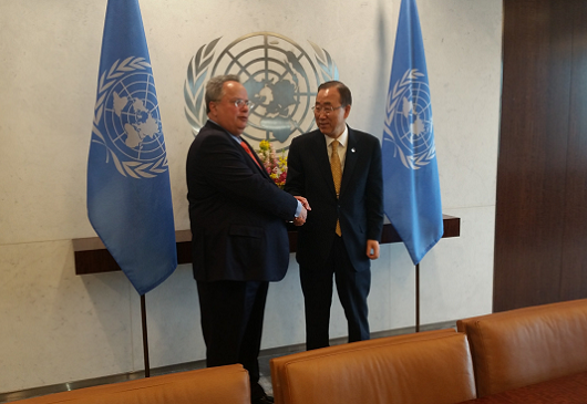 Foreign Minister Kotzias' statements to representatives of the news media following his meeting with UN Secretary-General Ban Ki-Moon (New York City, 24 April 2015)