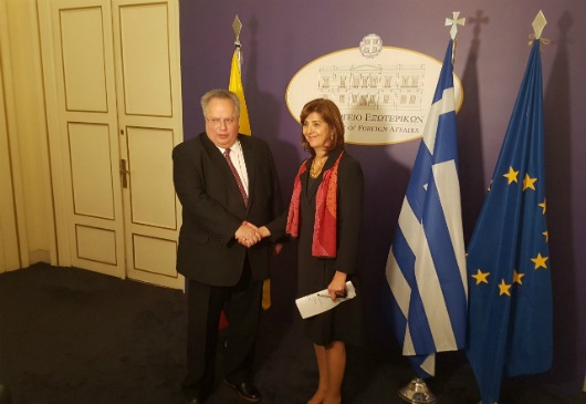 Joint statements of the Minister of Foreign Affairs, Nikos Kotzias, and the Colombian Minister of Foreign Affairs, Μ.Α. Holguín Cuéllar, following their meeting (Athens, 14 December 2017)