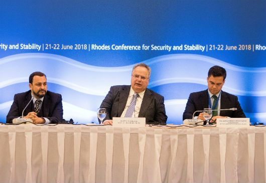 Press Conference of the Minister of Foreign Affairs, N. Kotzias, following the proceedings of the 3rd Rhodes Conference for Security and Stability (Rhodes, 22 June 2018)