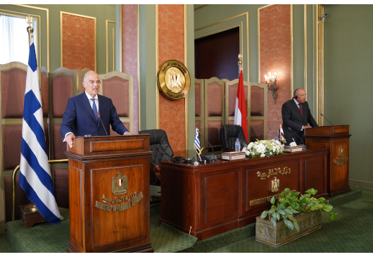 Statement of the Minister of Foreign Affairs, Nikos Dendias, following the signing of the agreement on the delimitation of EEZ between Greece and Egypt (Cairo, 6 August 2020)