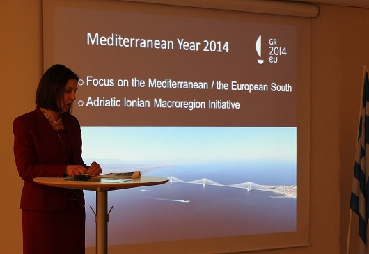 Presentation of the Priorities of the Hellenic Presidency of the Council of the European Union. Europahuset – Janurary 16th 2014. Opening Reception